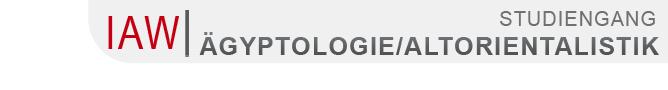 FB 07 - Ägyptologie und Altorientalistik